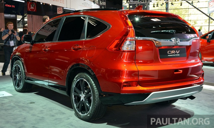Honda CR-V European facelift – live images from Paris Image #278482