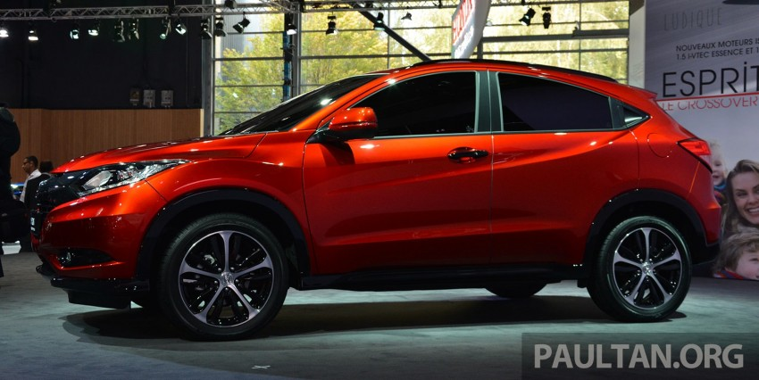 Paris 2014: European Honda HR-V looking good in red Image #277909