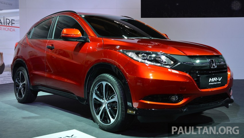 Paris 2014: European Honda HR-V looking good in red Image #277912