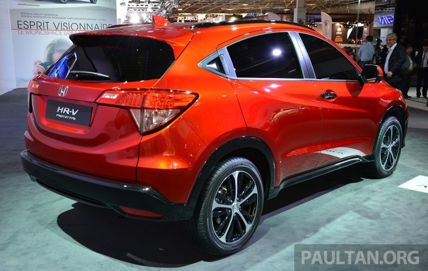 Paris 2014: European Honda HR-V looking good in red Image #277902