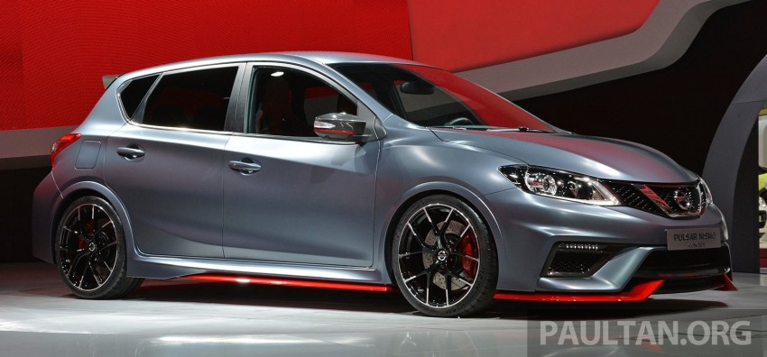 Nissan Pulsar Nismo Concept unveiled at Paris show – one step closer to taking on the Golf GTI Image #277847