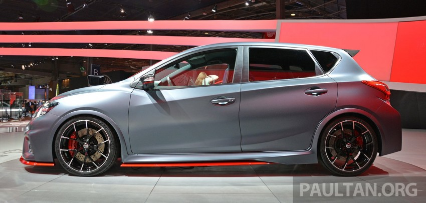 Nissan Pulsar Nismo Concept unveiled at Paris show – one step closer to taking on the Golf GTI Image #277851