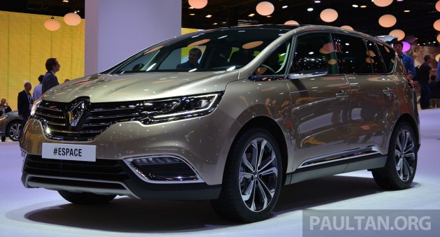 Renault espace at paris 2014 full details and live gallery for Espace stand