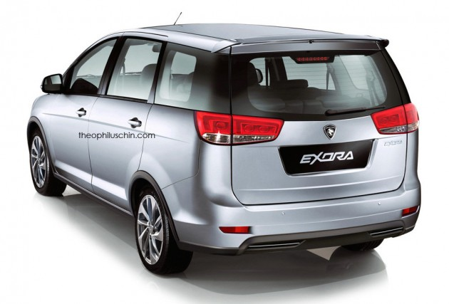 Rendered Proton Exora Facelift With Iriz Like Styling