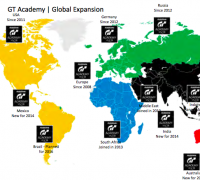 GT Academy planned countries