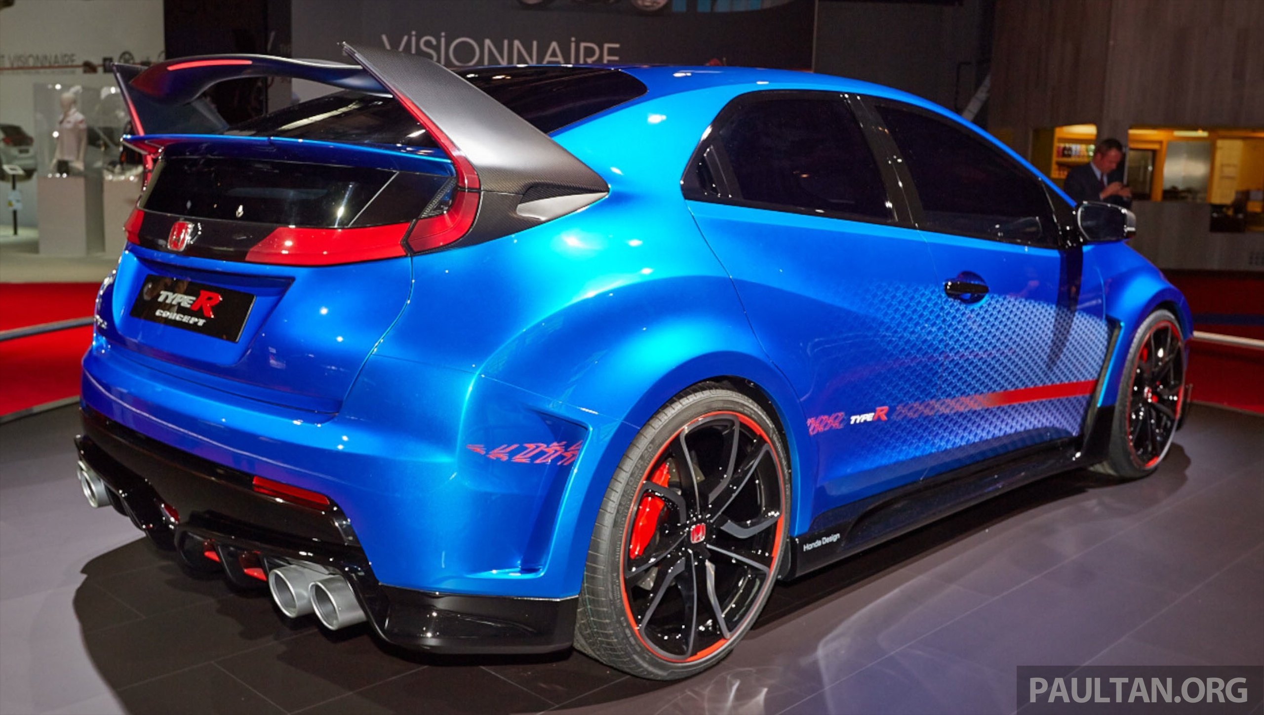 2015 Civic Type R Blue honda civic type r concept: live pictures from ...