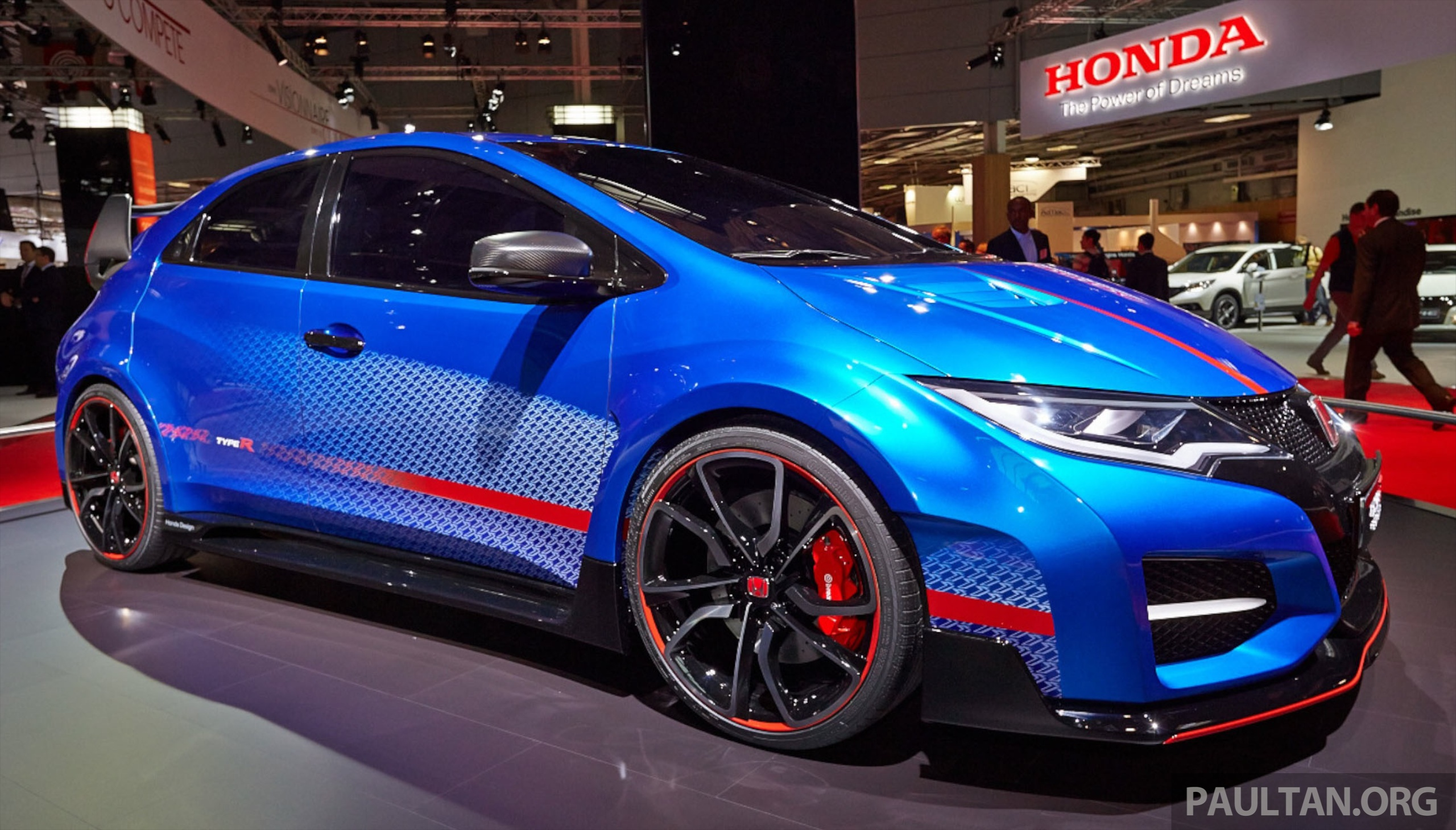 honda civic type r concept live pictures from the paris stand. Black Bedroom Furniture Sets. Home Design Ideas