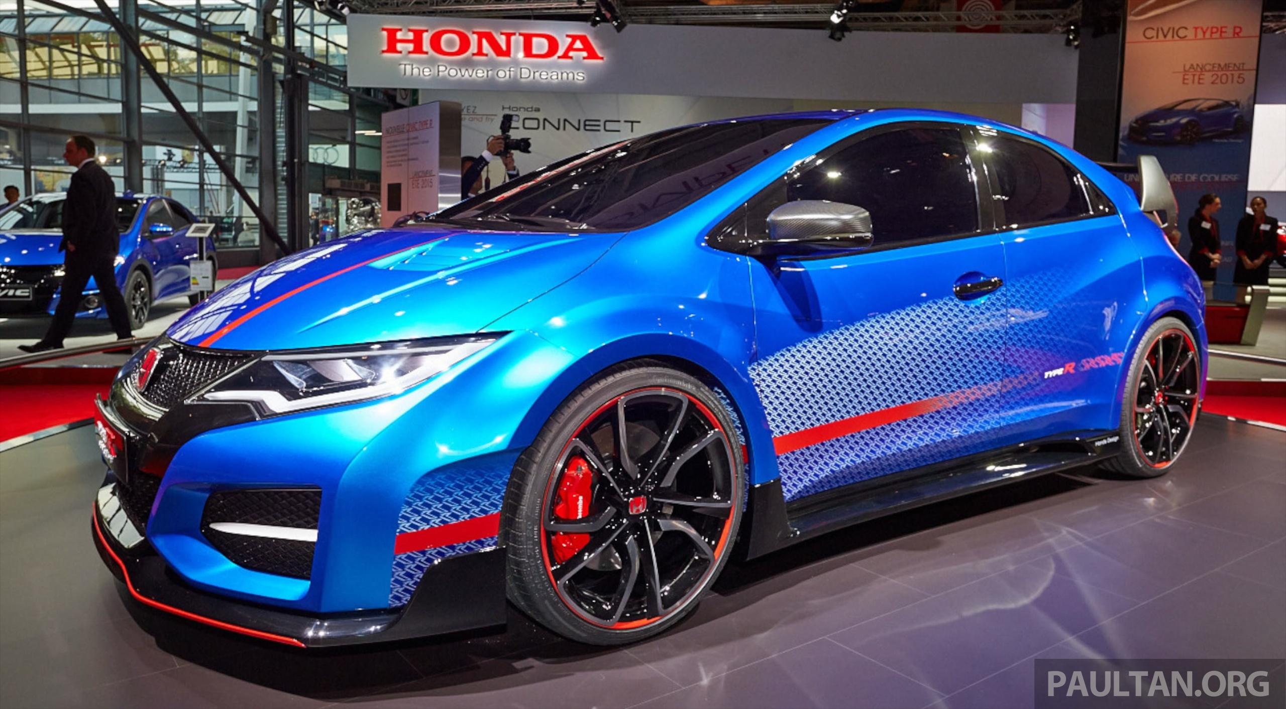 Honda Civic Type R Concept Live On The Paris Stand Paul