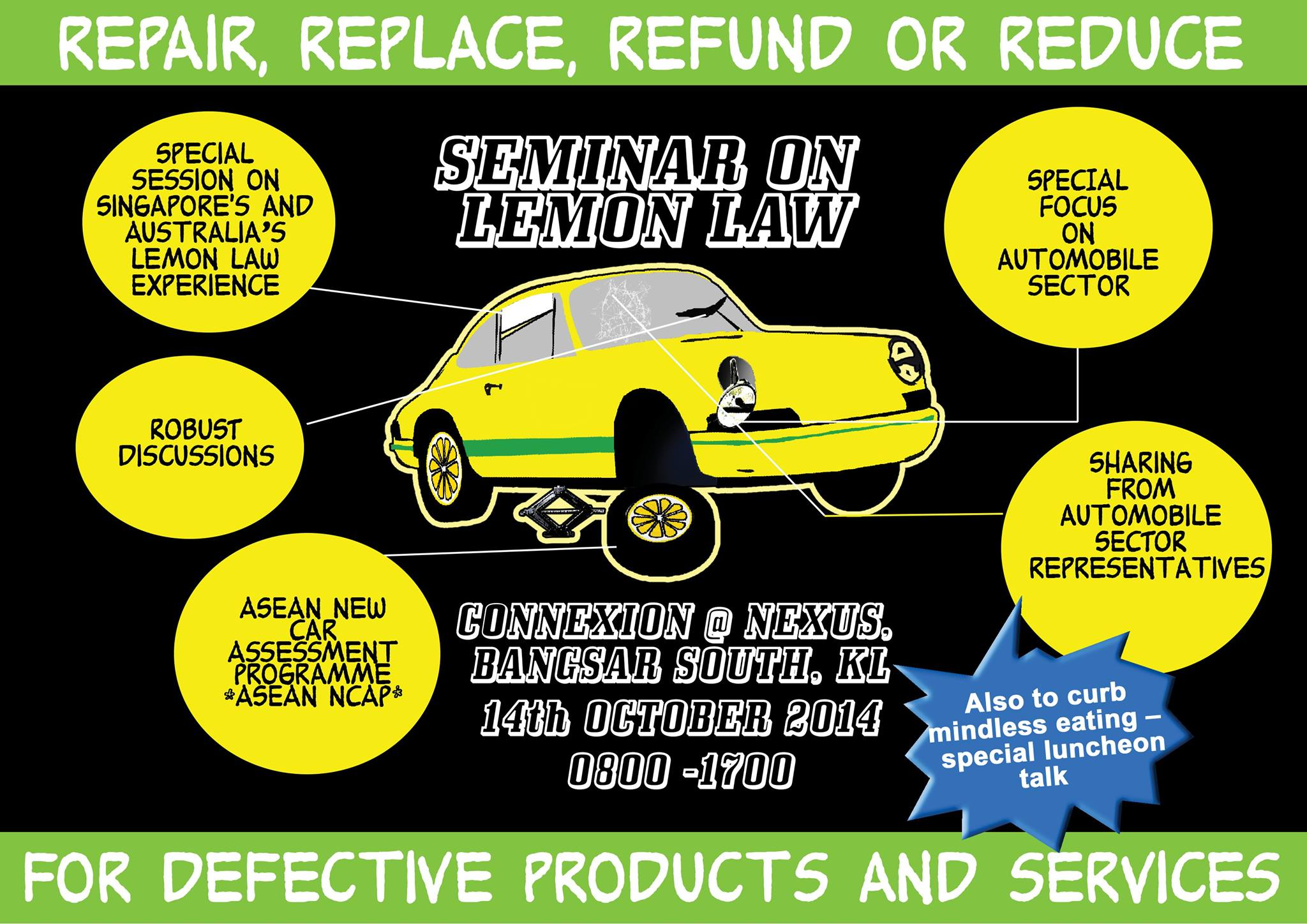 Establish lemon laws to protect car buyers - Standards Users