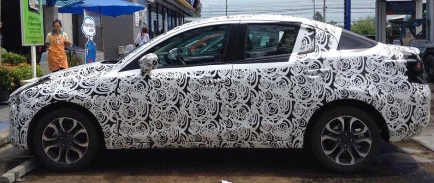 SPYSHOTS: Mazda 2 Sedan sighted in Thailand Image #277979