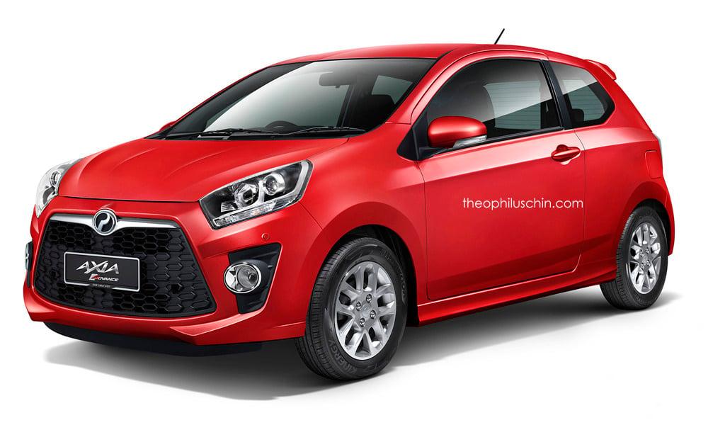 RENDERED: Perodua Axia Sports, three-door version