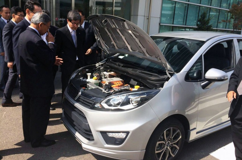 Proton Iriz EV prototype in Korea, developed with LG! Image #276811