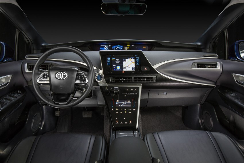 Toyota Mirai fuel cell vehicle officially revealed; touts a range of 483 km, available in second quarter of 2015 Image #288834