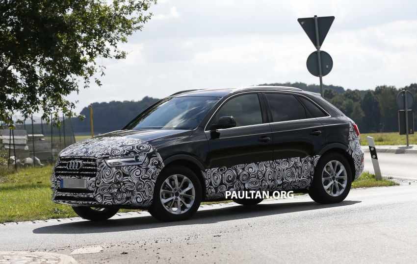 SPYSHOTS: Audi Q3 facelift captured testing Image #285041