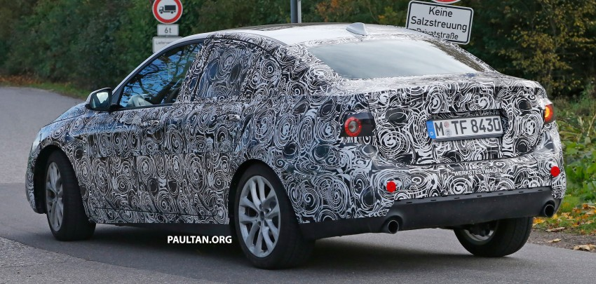 SPYSHOTS: F52 BMW 1 Series Sedan interior captured Image #286150