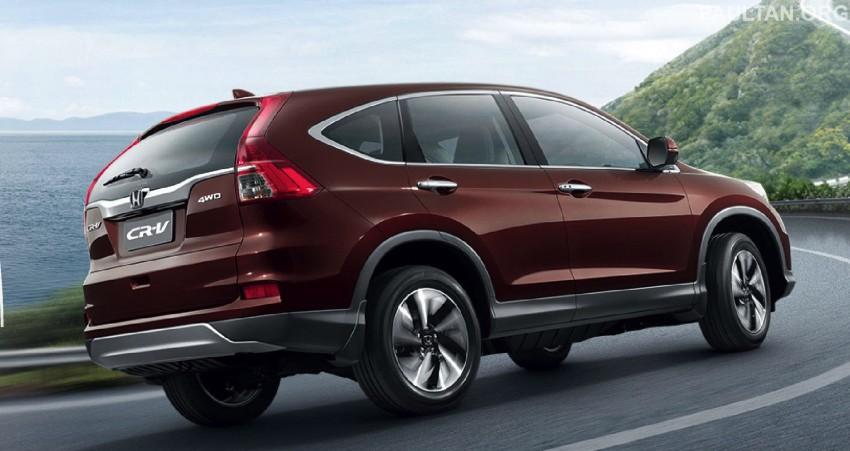 2015 Honda CR-V facelift – ASEAN version unveiled in Thailand, 2.4 litre variant gets CVT gearbox Image #284546