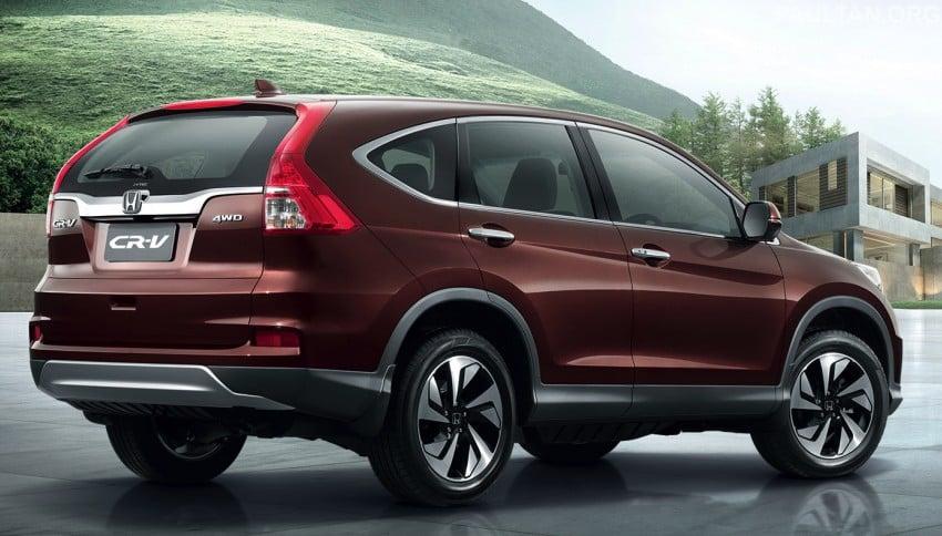 2015 Honda CR-V facelift – ASEAN version unveiled in Thailand, 2.4 litre variant gets CVT gearbox Image #284542