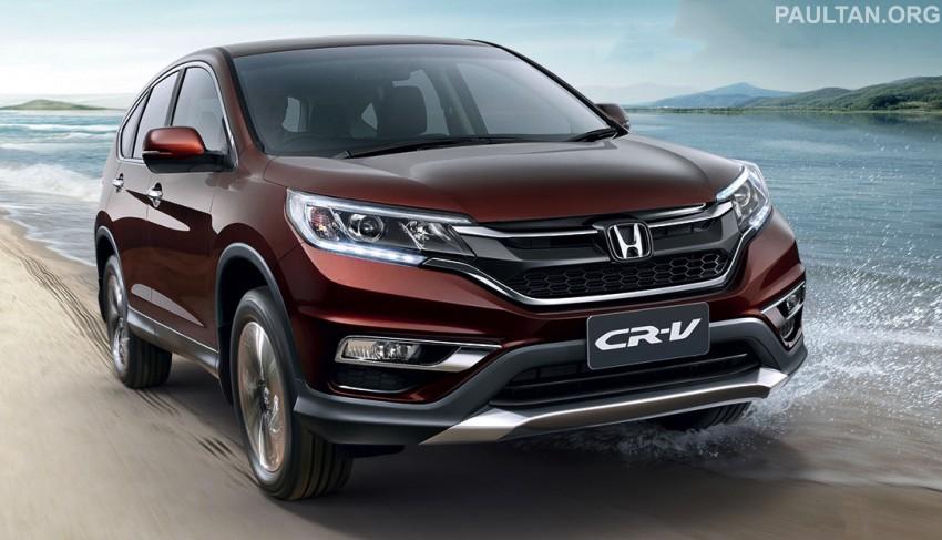 2015 Honda CR-V facelift – ASEAN version unveiled in Thailand, 2.4 litre variant gets CVT gearbox Image #284539