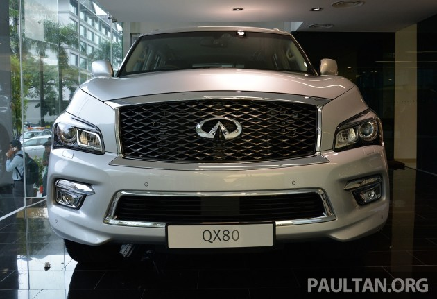 infiniti qx80 now in malaysia 5 6 v8 suv on sale 2015. Black Bedroom Furniture Sets. Home Design Ideas