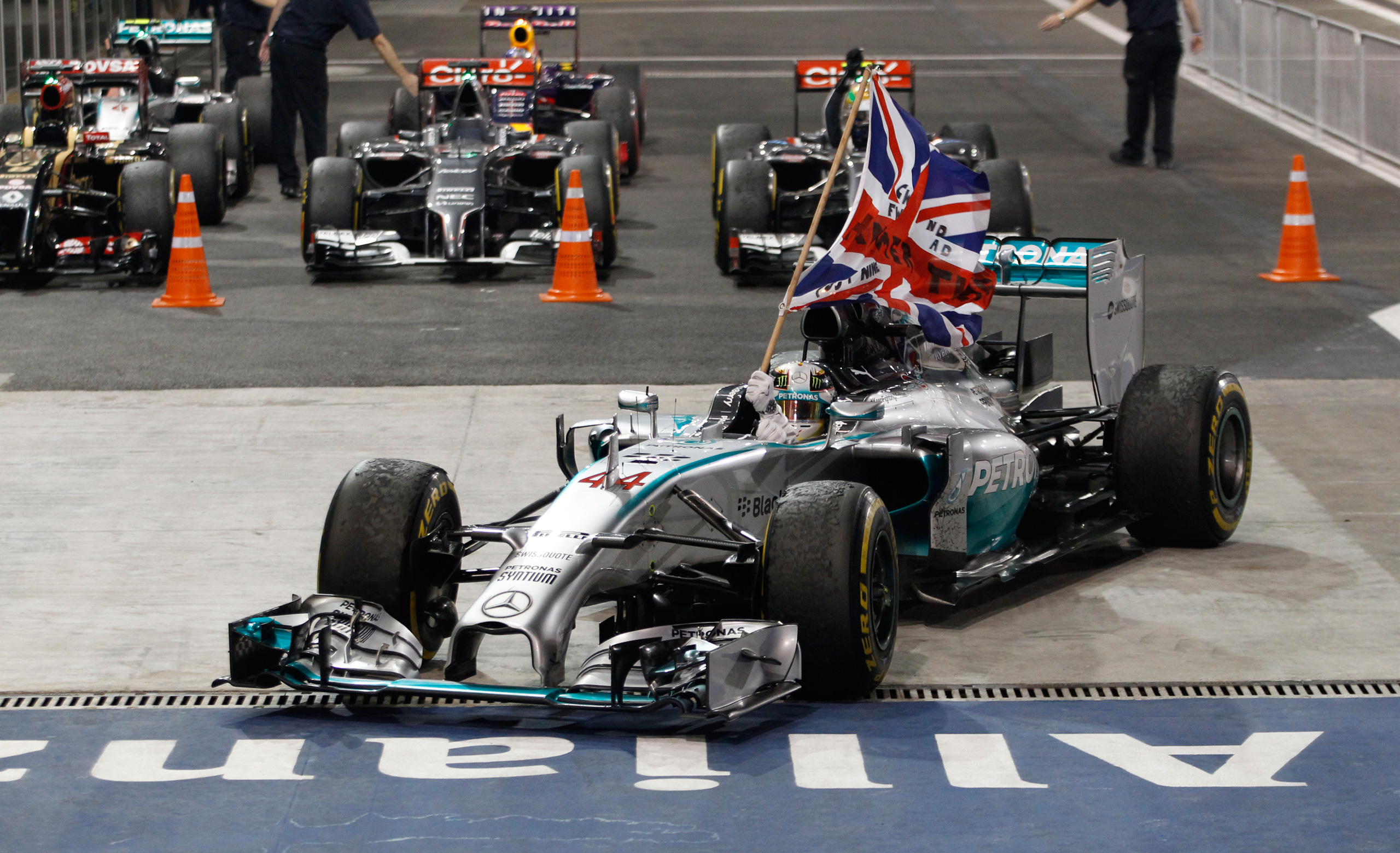 Lewis hamilton wins second formula 1 drivers title as for Mercedes benz f1 drivers