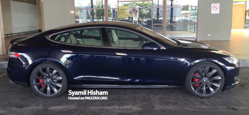 Tesla Model S spotted in Malaysia – grey import? Image #289356