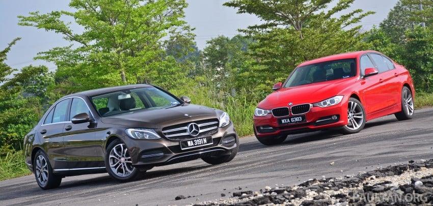 GALLERY: W205 Merc C-Class vs F30 BMW 3 Series Image #286243