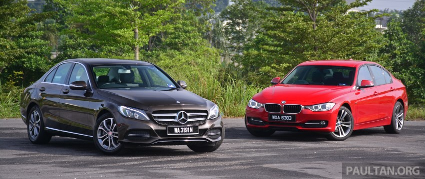 GALLERY: W205 Merc C-Class vs F30 BMW 3 Series Image #286245