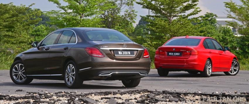 GALLERY: W205 Merc C-Class vs F30 BMW 3 Series Image #286249