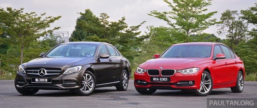 GALLERY: W205 Merc C-Class vs F30 BMW 3 Series Image #286250