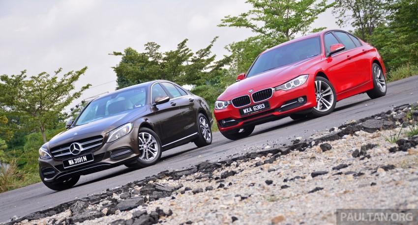 GALLERY: W205 Merc C-Class vs F30 BMW 3 Series Image #286251