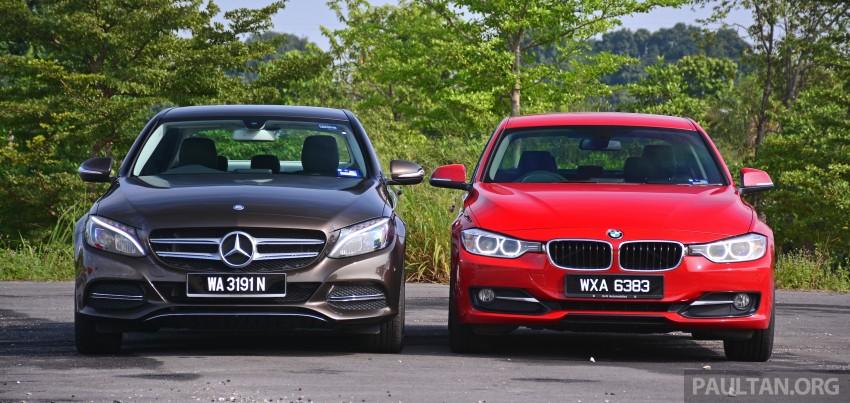 GALLERY: W205 Merc C-Class vs F30 BMW 3 Series Image #286254