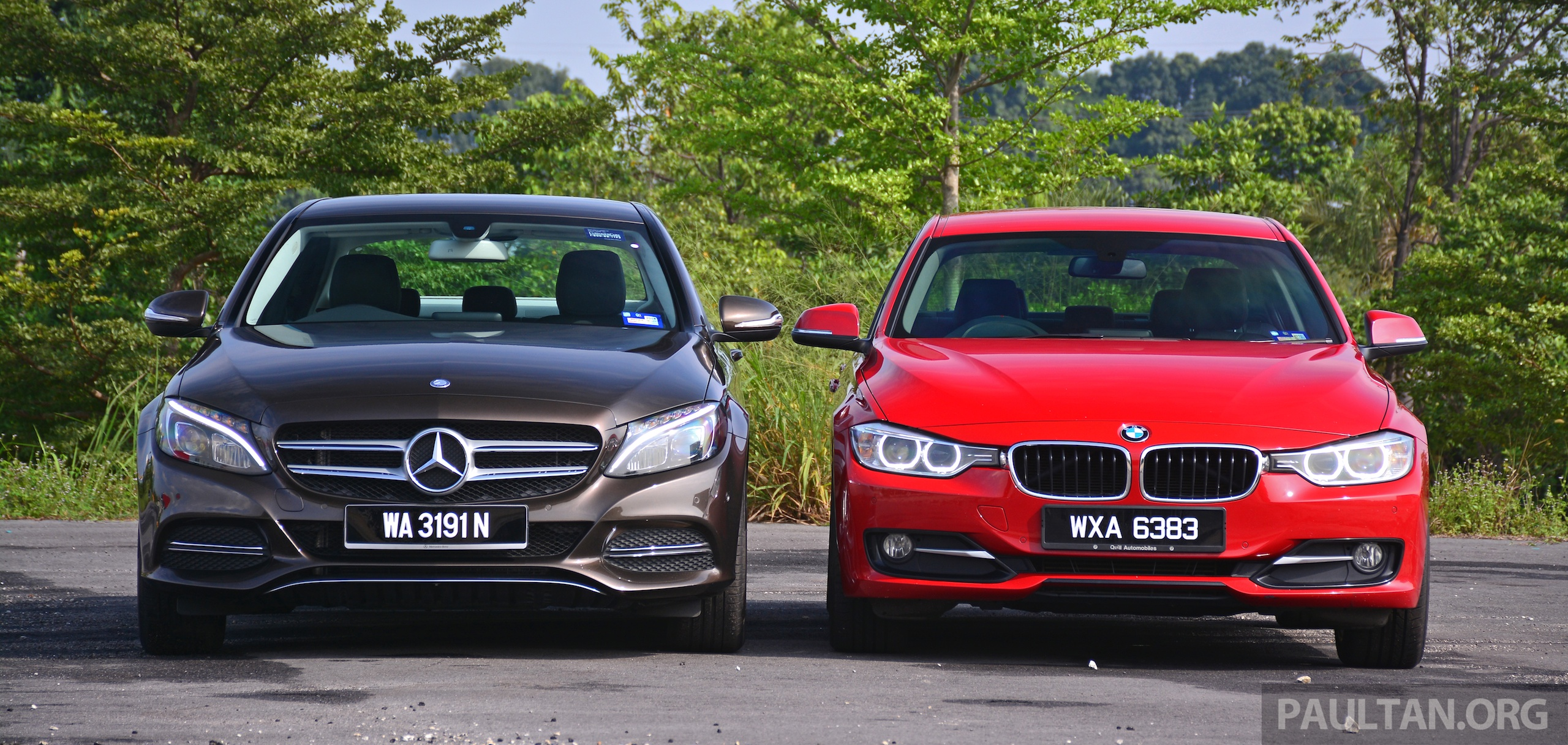 W205 mercedes benz c class vs f30 bmw 3 series for Bmw mercedes benz