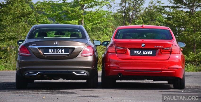 GALLERY: W205 Merc C-Class vs F30 BMW 3 Series Image #286255