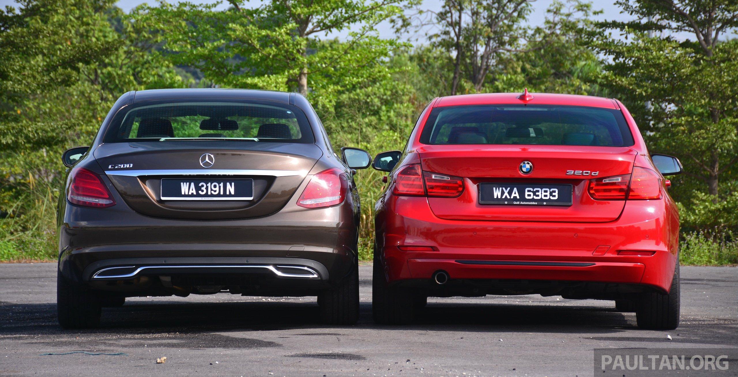 Gallery w205 merc c class vs f30 bmw 3 series image 286255 for Mercedes benz cla vs c class