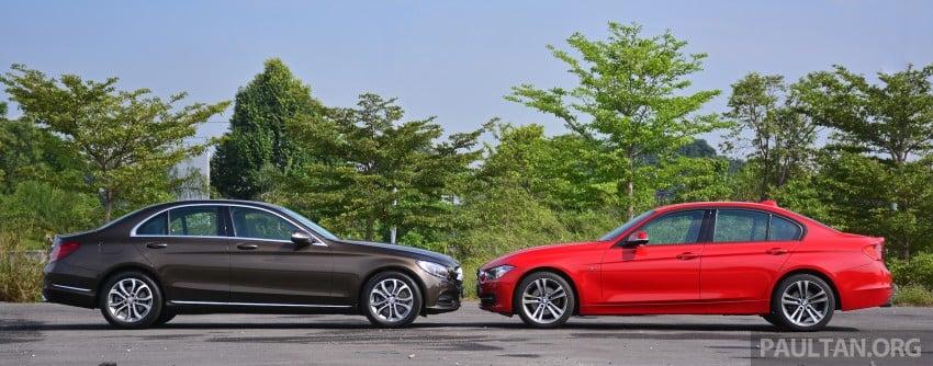 GALLERY: W205 Merc C-Class vs F30 BMW 3 Series Image #286256