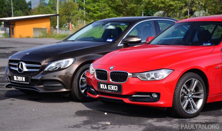 GALLERY: W205 Merc C-Class vs F30 BMW 3 Series Image #286260