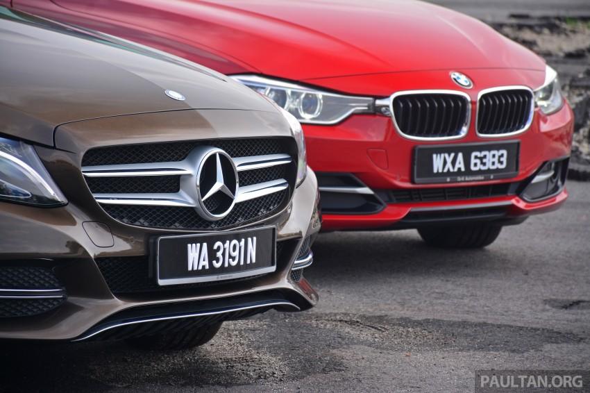 GALLERY: W205 Merc C-Class vs F30 BMW 3 Series Image #286263