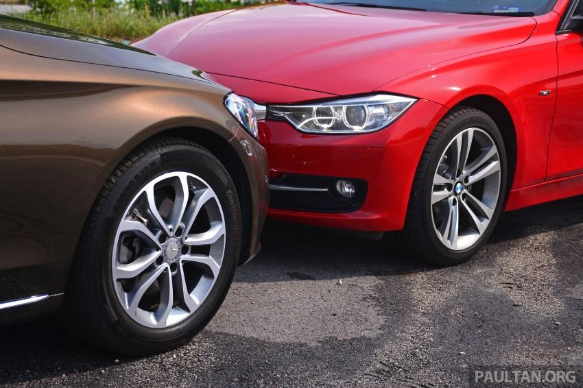 GALLERY: W205 Merc C-Class vs F30 BMW 3 Series Image #286271