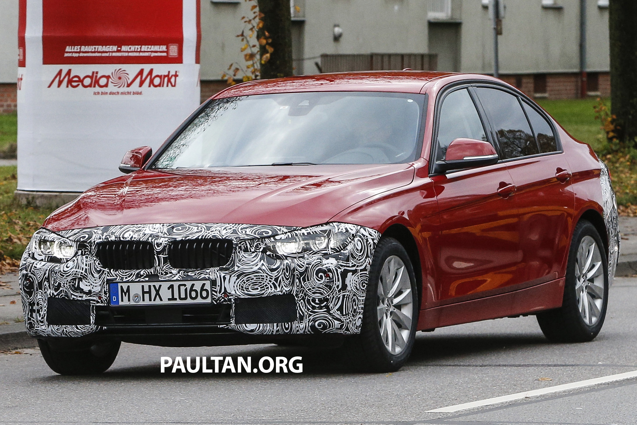 spyshots f30 bmw 3 series lci snapped again. Black Bedroom Furniture Sets. Home Design Ideas