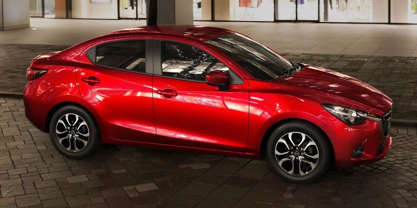 Mazda 2 Sedan – first photos out, full reveal next week Image #290175
