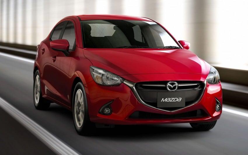 Mazda 2 Sedan – first photos out, full reveal next week Image #290177