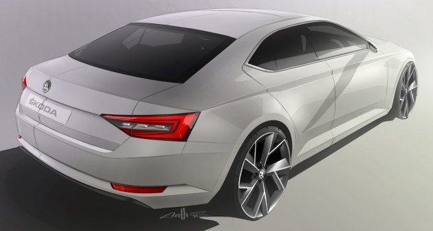 141222 SKODA Superb Design Sketch