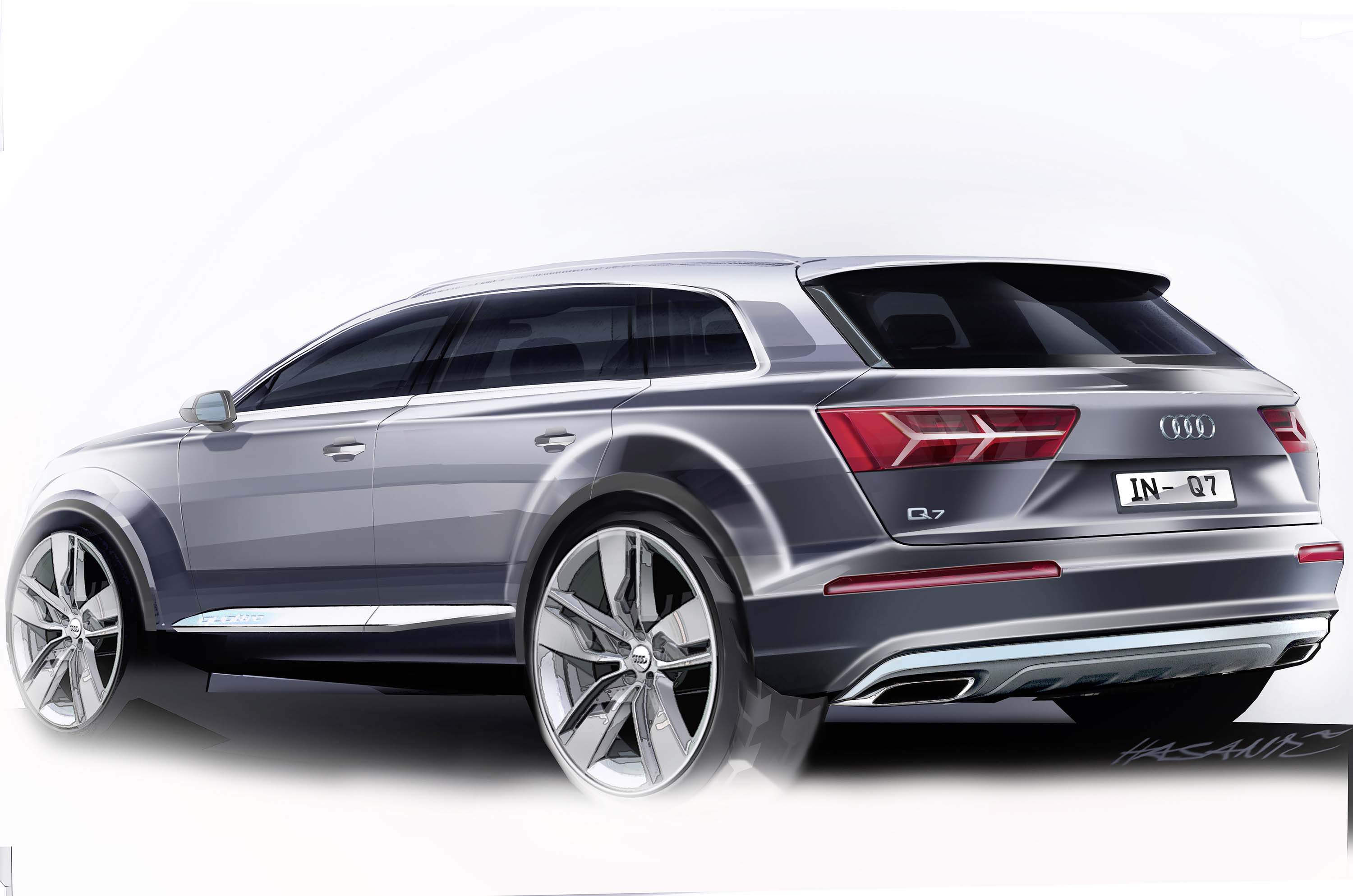 audi q7 second generation 7 seater suv debuts image 295894. Black Bedroom Furniture Sets. Home Design Ideas