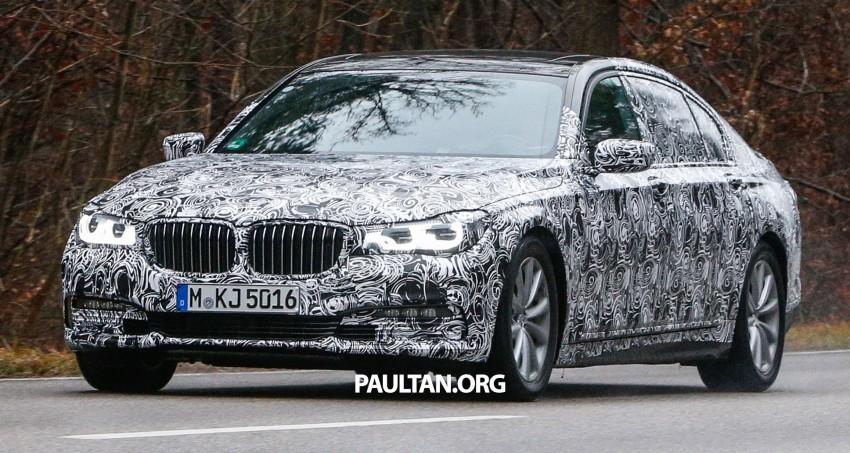 SPYSHOTS: G11 BMW 7 Series mule reveals details Image #293326