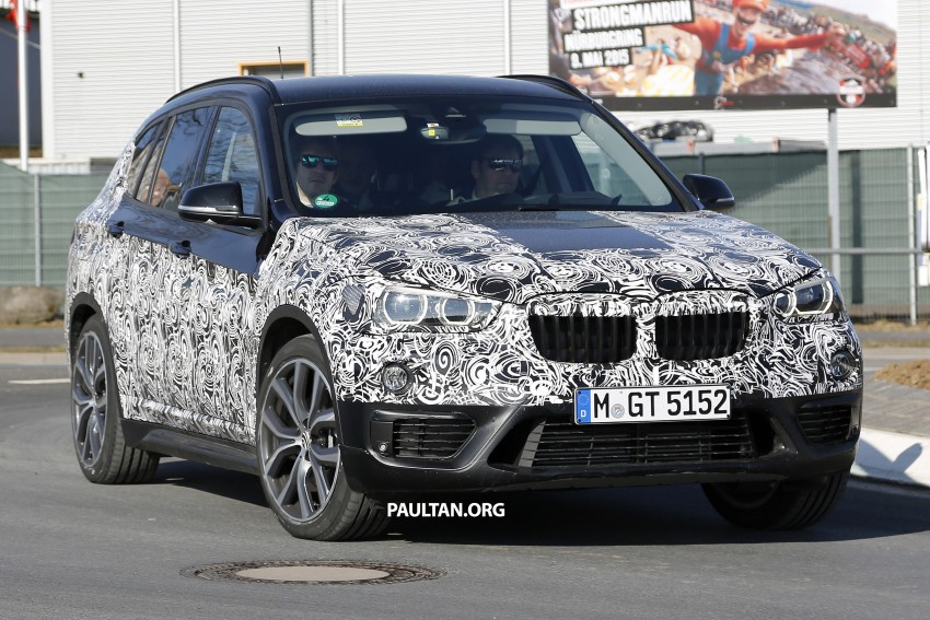 SPIED: F48 BMW X1 – FWD SUV loses some camo Image #319608