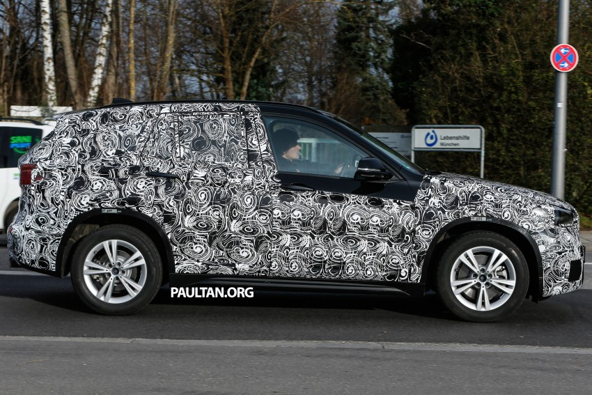 SPIED: F48 BMW X1 – FWD SUV loses some camo Image #296809