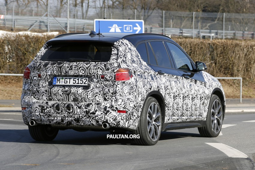 SPIED: F48 BMW X1 – FWD SUV loses some camo Image #319602