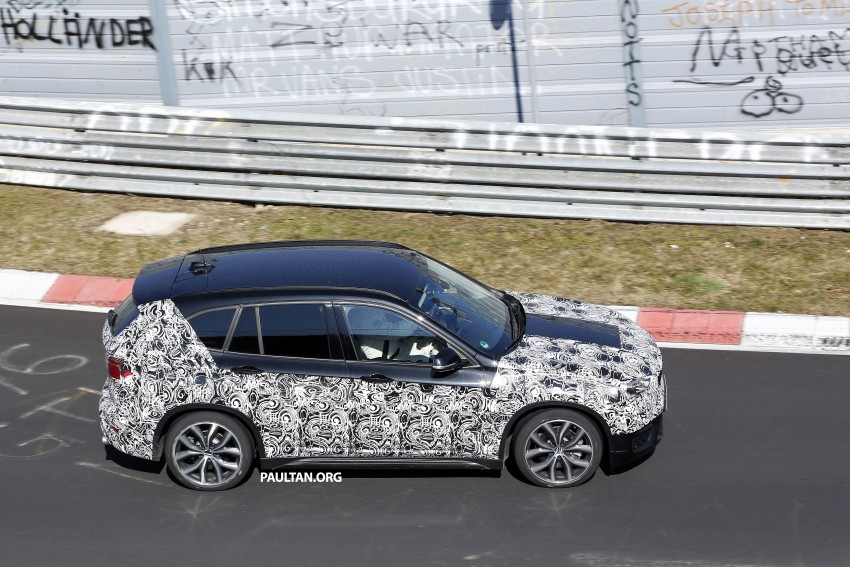 SPIED: F48 BMW X1 – FWD SUV loses some camo Image #319598