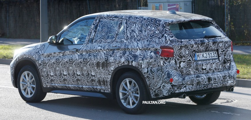 SPIED: F48 BMW X1 – FWD SUV loses some camo Image #296823
