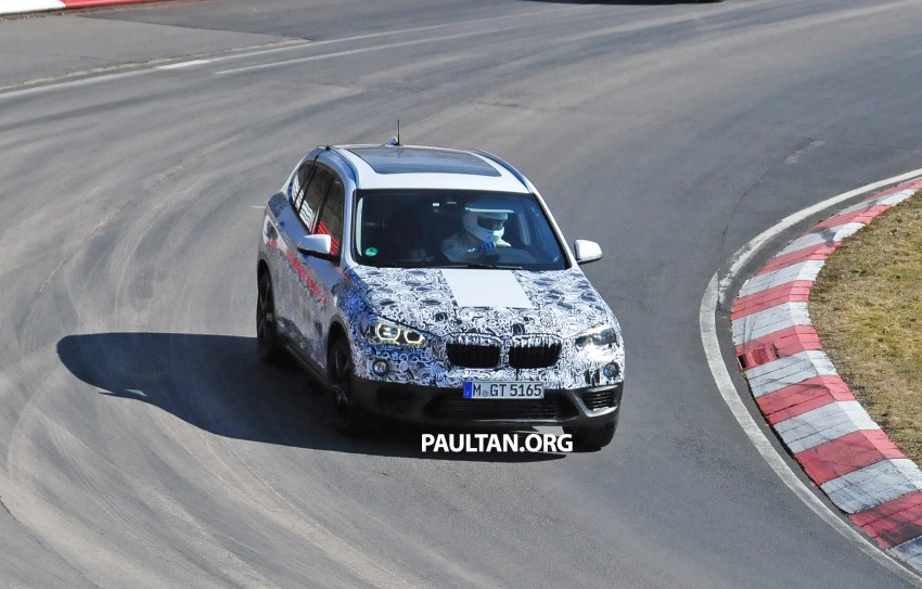 SPIED: F48 BMW X1 – FWD SUV loses some camo Image #319316